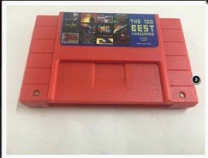 Cartuchos Super Nintendo 100 Best Games e Mega Drive 196 Games em 1