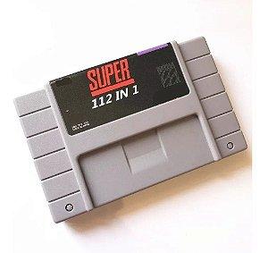 Cartucho Super Nintendo com 112 jogos em 1 e Bateria para salvar o progresso