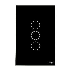 Interruptor Touch 3 Teclas Preto Caixa 4X2