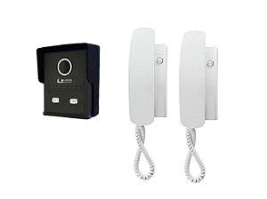 kit Interfone Porteiro Coletivo Smart 2 Pontos com monofones