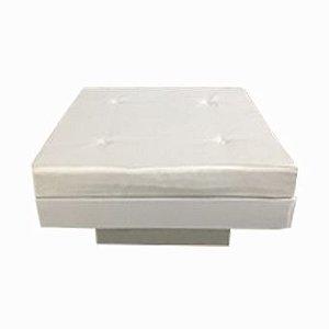 Banco Futon quadrado branco