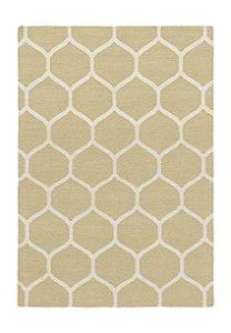 Tapete Kilin Indiano, 250x170 cm,  geométrico cáqui.