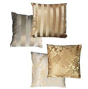 Almofadas 40x40 Tons de Dourado