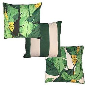 Almofadas 40x40 em Tons de Verde