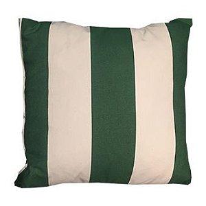 Almofada listada verde