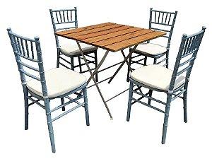 Conjunto Mesa Bar e Cadeiras Tiffany