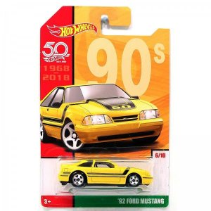 VEICULOS HOT WHEELS 50 ANOS RETRO 92'FORD MUSTANG - FRF44