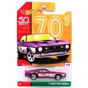 VEICULOS HOT WHEELS 50 ANOS RETRO 71'MUSTANG MACH 1- FRF42