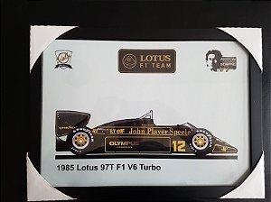 QUADRO SENNA LOTUS JPS A3 (297 x 420 mm)