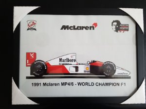 QUADRO SENNA MCLAREN  A3 (297 x 420 mm)