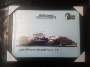 QUADRO SENNA WILLIAMS  A3 (297 x 420 mm)