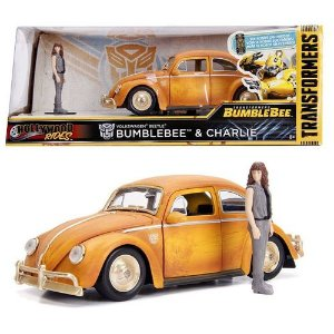 VEICULOS METAL DIECAST TRANSFORMERS BUMBLEBEE FUSCA 1/24