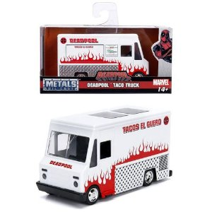 VEICULOS HOLLYWOOD RIDES 1/32 DEADPOOL TACO TRUCK BRANCO