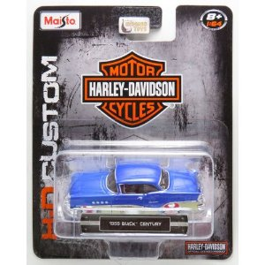 1955 BUICK CENTURY HARLEY DAVIDSON COLLECTION 1/64