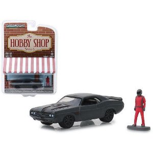 "1971 DODGE CHALLENGER ""SHAKEDOWN TRIBUTE"" WITH RACE CAR DRIVER 1/64"