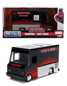 VEICULOS HOLLYWOOD RIDES 1/32 DEADPOOL TACO TRUCK PRETO