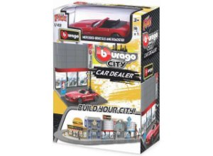 MINIATURA STREET FIRE MERCEDES BENZ SLS AMG CAR DEALER BURAGO 1/43