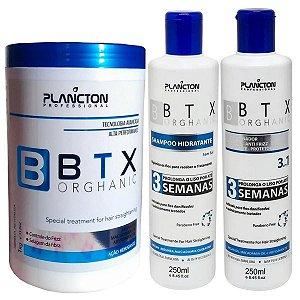 Kit Orghanic Plancton Shampoo, Condicionador E Botox 1Kg