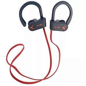 Fone De Ouvido Bluetooth Esportivo S/Fio Knup Vermelho