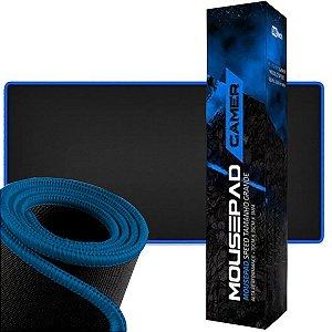 Mousepad Gamer Borda Costurada Azul Grande 70 X 35 Speed Premium