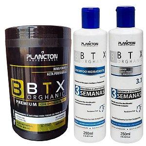 Kit Plancton Shampoo, Condicionador E Botox Groselha Negra 1kg