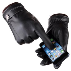 Luva Couro Sintético Touch Screen Smartphone Celular Social