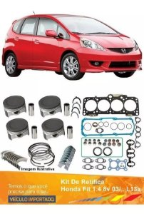 Kit De Retífica Do Motor Do Honda Fit 1.4 8v 03/.. L13a