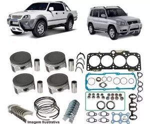 Kit De Retífica Do Motor L200 Pajero Galloper 2.5 8v 4d56t