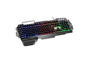 Teclado Gamer Warrior Semi Mecânico ABNT2 Preto com LED  - TC210