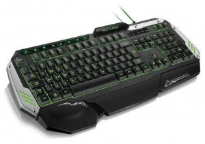 Teclado Gamer Warrior Semi Mecânico ABNT2 Preto com LED - TC189