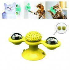 Brinquedo Giratório para Gato Double Diversão com Catnip
