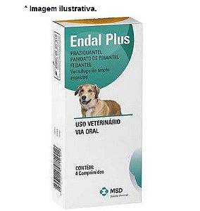 Vermifugo Para Cães MSD Endal Plus 4 comprimidos para 10kg