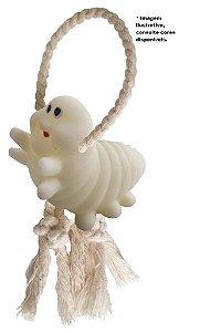 Brinquedo Lagarta Baby Fosforescente com corda
