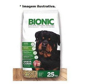 Ração Bionic sabor carne para todas as raças 25kg