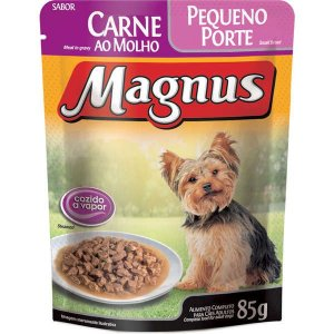 Ração Úmida Magnus Para Cães de Pequeno Porte Adultos Sabor Carne ao Molho - 85g