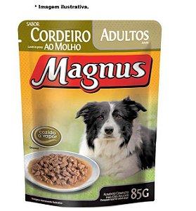 Ração Úmida Magnus  Sachê Cordeiro ao Molho para Cães Adultos 85gr