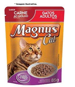 Ração Úmida Magnus Cat Sachê Carne ao Molho para Gatos Adultos 85gr