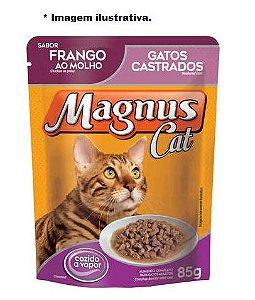 Ração Úmida Magnus Cat Sachê Frango ao Molho para Gatos Castrados 85gr