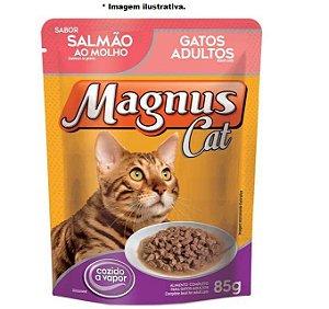 Ração Úmida Magnus Cat Sachê Salmão ao Molho para Gatos Adulto 85gr