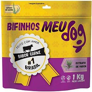 Bifinhos Meu Dog sabor Carne para cães 1kg