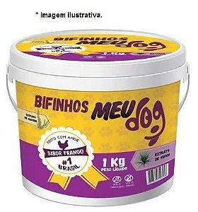 Bifinhos Meu Dog sabor Carne para cães 1kg Balde