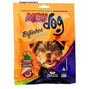 Bifinhos Meu Dog sabor carne para cães 60gr