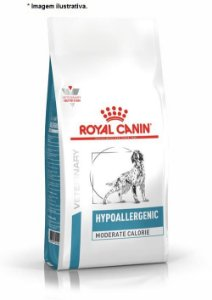 Ração Royal Canin Veterinary Hypoallergenic Moderate Calorie para Cães Adultos 10,1kg
