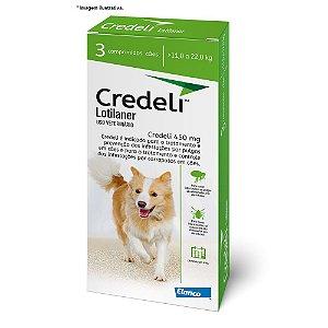 Antipulgas e Carrapatos Elanco Credeli 450 mg para Cães de 11 a 22kg combo com 03 comprimidos