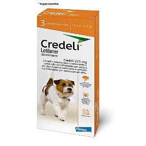 Antipulgas e Carrapatos Elanco Credeli  225 mg para Cães de 5,5 a 11kg combo com 03 comprimidos