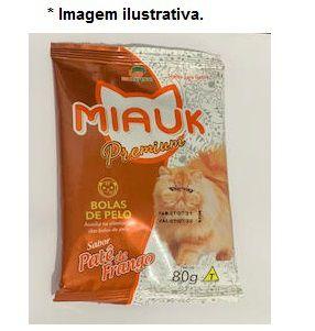 Petisco Gatos Miauk Premium Bolas de Pelo 80gr (sabor patê frango)
