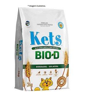 Granulado Sanitário Kets Bio-D 3kg (super premium de Cereais)