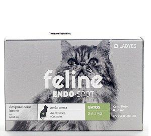 Vermífugo para Gatos  Endo Spot Labyes 0,80ml de 2kg á 5kg