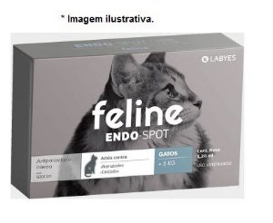 Vermífugo para Gatos Endo Spot Labyes 1,20ml mais de 5kg