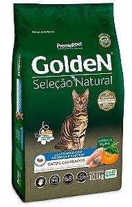Golden Seleção Natural Gatos Castrados sabor Frango com Abóbora e Alecrim 10,1kg
